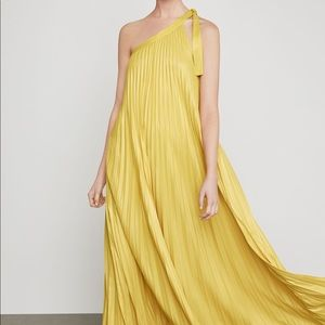 NWT BCBGMAXAZRIA Abee Pleated Maxi Dress
